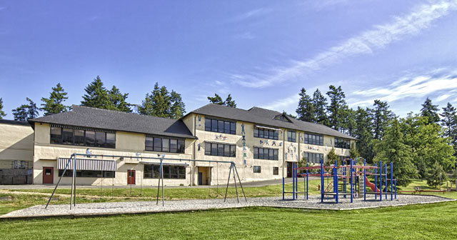 Salt Spring Elementary School on Salt Spring Island