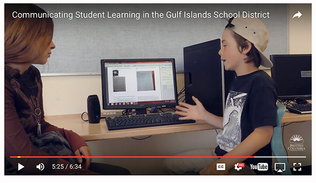 Communicating Student Learning in the Gulf Islands School District