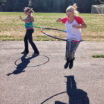 Hula hooping with hoops made during Community Week at Galiano Community School (Cathy Buttery)