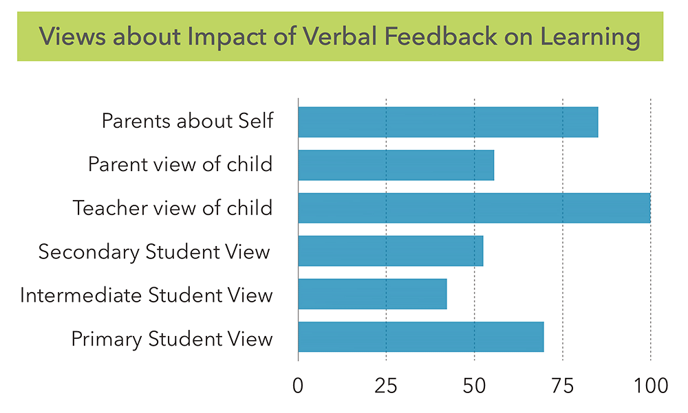 What People Said…  Verbal Feedback Positively Affects Learning