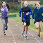 Running in the Rain Gr. 4/5 Track and Field at Portlock (John Cameron)