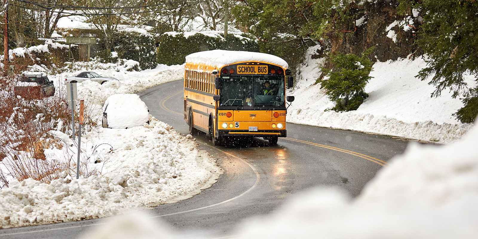 SD64 Bus 5 on Salt Spring Island running Main Roads Only