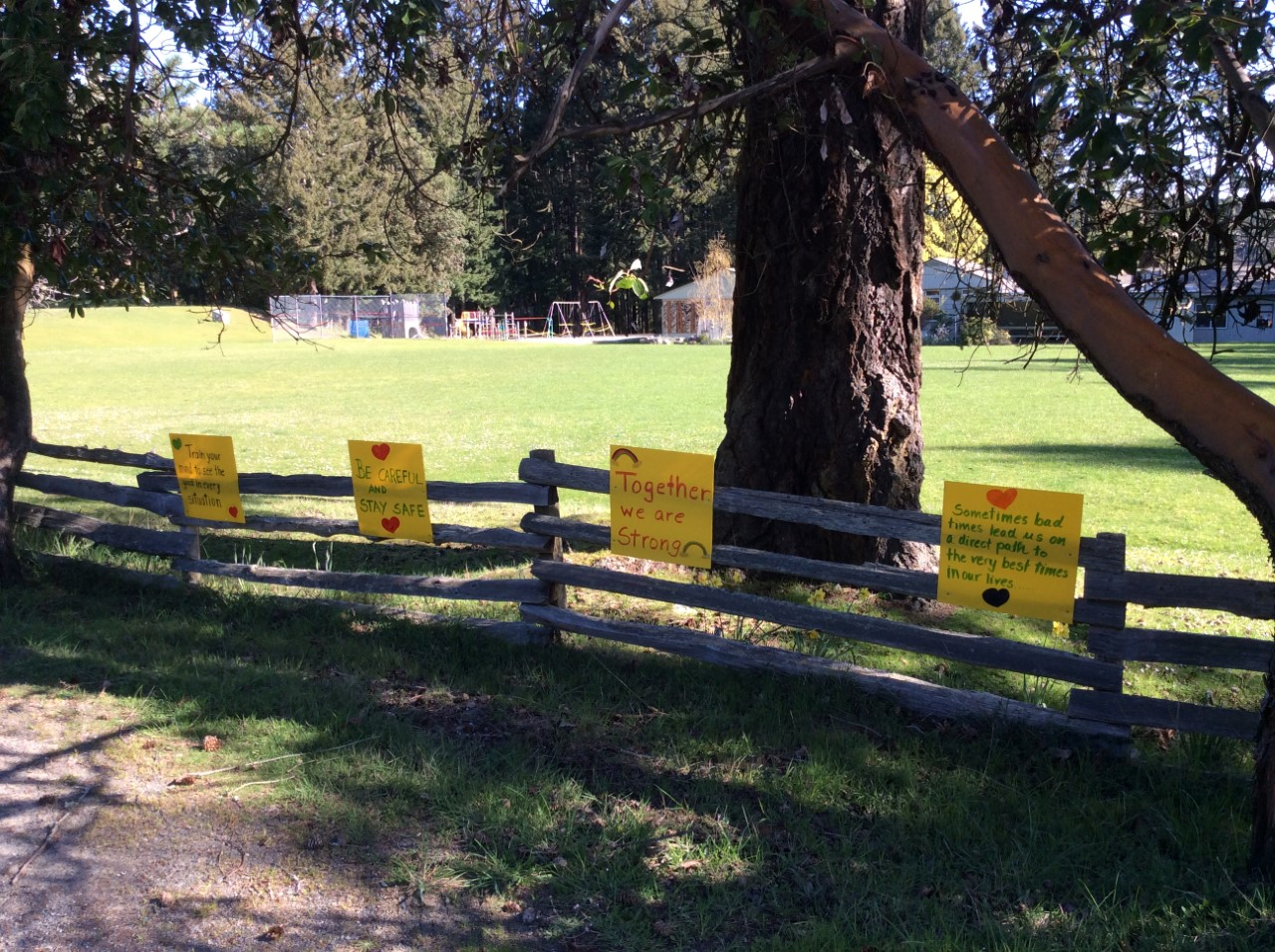 Messages of hope at Mayne Island School