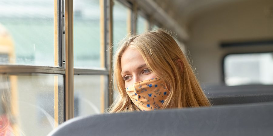 GISS student on the bus ©johncameron.ca